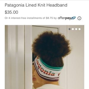 Other - Patagonia Lined knit headband